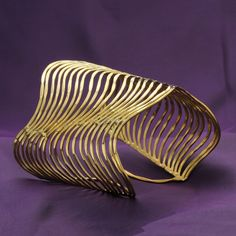 Gold Plated Traditional Bollywood Fashion Jewelry Women Ethnic Cuff Bracelet #DesaiJewellers #Bracelet