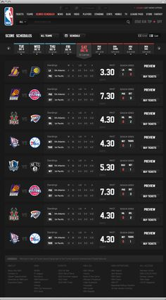 NBA .com Concept UI Design ( Personal Project ) by Berkan Is, via Behance