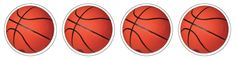 Basketball 120 Stickers (EU655047) #classroom #decor #AILtyler