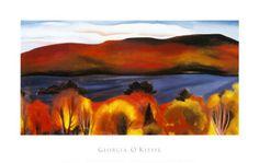 Georgia O'Keeffe Lake George, Autumn, 1927.