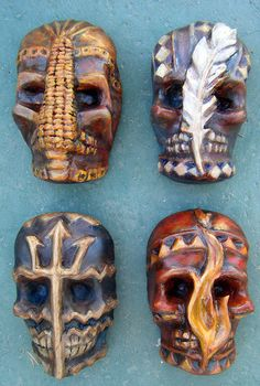 Spirit of the Elements Masks: Earth Wind, Fire, Water