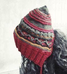 Women hat pixie hat knit hat boho fashion fairy hat by HEraMade #bohostyle #bohofashion #bohochic #knithat #fairy #pixiehat