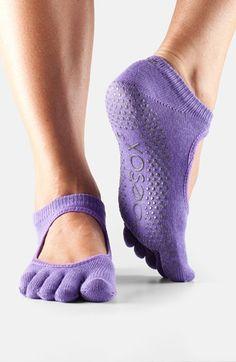 Women's ToeSox 'Bella' Full Toe Gripper Socks