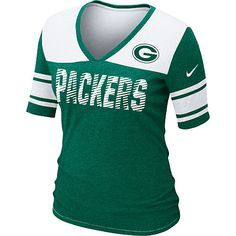 Nike NFL Green Bay Packers Touchdown Women's V-Neck