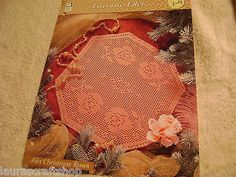 favorite+crochet | Filet Christmas Roses Doily, Favorite Filet crochet pattern