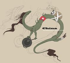 Hetalia China as a Chinese Dragon this is cool
