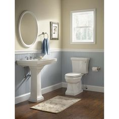 A small bathroom which has a sink and a toilet, yet there is no shower and tub is usually named half bathroom. The design of half bathroom could be rather diverse. Some of the half bathrooms are exceptionally minimalist with… Continue Reading → Wainscoting Bathroom, Bathroom Wall Decor, White Bathroom, Bathroom Fixtures, Modern Bathroom, Bathroom Ideas, Bath Ideas, Master Bathroom, Shower Ideas