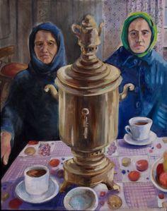 "Kristy Edwards. The Samovar 24-30"" oil canvas"