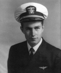 George H.W. Bush served in the U.S. Navy from Aug. 1942 - Sept. 1945, Photo from the Bush Library via ourpresidents  History - Tumblr