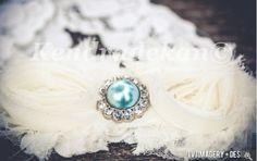Something blue on the bride's garter