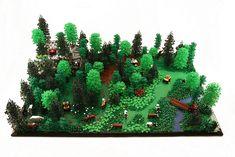 Lego Landscape by cyndi.bourne #landscape #brickadelics #scene #forest