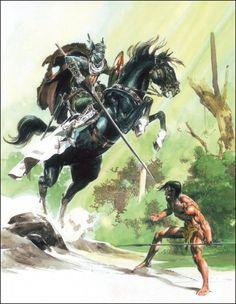 Tarzan Covers by Neal Adams and Boris Vallejo – Catspaw Dynamics Tarzan Book, Tarzan Of The Apes, Retro, Boris Vallejo, Sword And Sorcery, Fantasy Illustration, Comic Book Artists, Fantastic Art, Geek Culture
