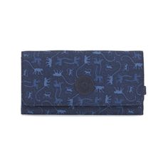 b65b94b91 Kipling New Teddi Printed Snap Wallet (485 MXN) ❤ liked on Polyvore  featuring bags, wallets, monkey mania blue, kipling wallet, party bags,  snap bag, ...