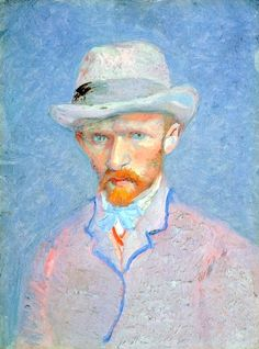Self-Portrait In Felt Hat, Vincent Van Gogh,  bofransson