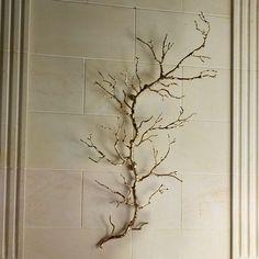 Global Views Twig Wall Art Brass