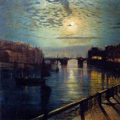 Atkinson Grishaw, Porto di Whitby al chiaro di luna (1862).