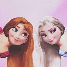 Anna & Elsa ~Rapunzel Style