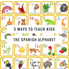 Looking for some fun, easy ways to teach kids the Spanish Alphabet? Check out this post with lots of great ideas! http://fabulousclassroom.com/%E2%80%A6/5-ways-teach-kids-spanish-a%E2%80%A6/