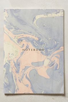 Marbled Notebook by Katie Leamon #anthroregistry