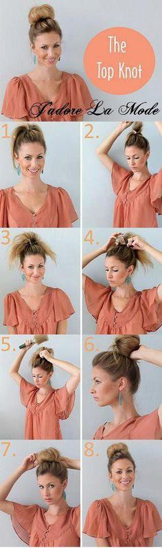 I need to get this top knot thing right for my summer hairstyle!