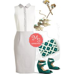 In this outfit: Italian Soda Stop Dress, I've Sheen It All Hair Pin Set, Refined and Radiant Necklace, Diamond to Meet You Bag, Exactly as Planned Wedge #dresses #workwear #workappropriate #professional #outfits #chic #ModCloth #ModStylist #fashion