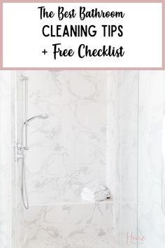 Keeping your bathroom clean is important that's why you'll love these bathroom cleaning tips. These cleaning tips for bathroom will be just what you need to keep your bathroom clean and clutter-free. Also, download the free bathroom cleaning checklist printable to use during your weekly bathroom cleaning Bathroom Cleaning Checklist, Cleaning Checklist Printable, Routine Printable, Cleaning Routines, Cleaning Tips, Organization Hacks, Organizing, Getting Organized At Home, Home Goods Decor