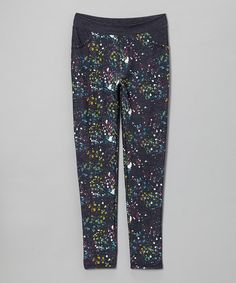 Take a look at this Navy & Pink Splatter Jeggings on zulily today!