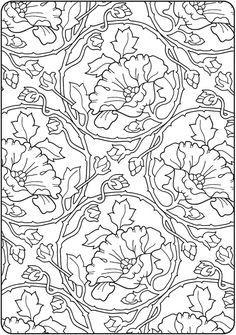 Dover Publications Creative Haven Deluxe Edition Elegant Art Nouveau Coloring Book
