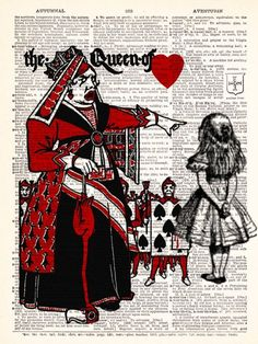 Alice In Wonderland Meets The Queen Of Hearts by TheRekindledPage, $6.99
