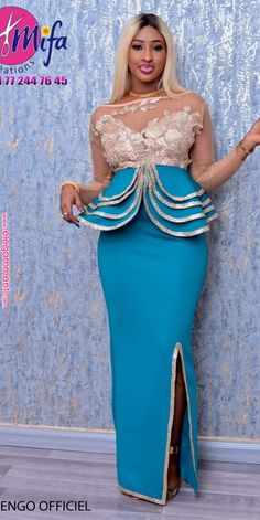 Pin by Merry Loum on Sénégalaise in 2019 African Lace Styles, African Lace Dresses, African Dresses For Women, African Attire, African Wear, African Fashion Ankara, Latest African Fashion Dresses, African Print Fashion, Women's Fashion Dresses
