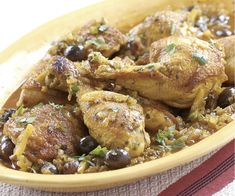 Moroccan Chicken with Olives & Preserved Lemons