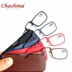 Titanium Mini Reading Glasses Clip Nose Presbyopic Glasses With Box Wallet Prescription Eyewear Degree