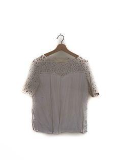Blusa blanca, encaje, Zara  White blouse, lace,