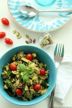 Miglio con crema di basilico e olive taggiasche da una vegetariana in cucina