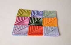 Carmela Biscuit's Spot: Mitered Square pattern