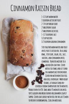 5 bread recipes for fall + how to write on a loaf cinnamon raisin bread recipe Bread Machine Recipes, Bread Recipes, Baking Recipes, Raisin Recipes, Rasin Bread, Banana Bread, Apple Bread, Cinnamon Bread, Bread Machine Recipe For Cinnamon Raisin Bread