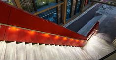 Lumenrail With Klik Ledpod Allows for Curved and Asymetric Lighted Railing and Handrail - Courtesy of Wagner Companies - Railing Products & Services - http://www.wagnercompanies.com/
