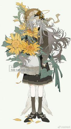 a mess . Art And Illustration, Fantasy Kunst, Fantasy Art, Anime Art Girl, Manga Art, Pretty Art, Cute Art, Kunst Inspo, Anime Lindo