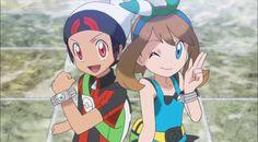 Pokemon - Brendan/Ruby and May/Sapphire Pokemon Mew, Pikachu, Pokemon Manga, Pokemon Ships, Pokemon Stuff, Pokemon Couples, Pokemon People, Pokemon Especial, Hoenn Region