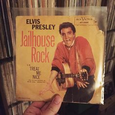 """Elvis Presley - Jailhouse Rock b/w Treat Me Nice (RCA Victor 47-7035. 1957 US 7"""" Single)  Kickin' the week off with two from The King.  Have a fast and safe Monday everyone! #nowplaying #nowspinning #music #lp #wax #album #vinyl #igvinyl #vinyligclub #instavinyl #vinyladdict #vinyljunkie #vinylcollector #vinylcollecting #vinylcollection #vinylcollectionpost #elvis #elvispresley #elvisaaronpresley #theking #thekingofrocknroll #thekingofrockandroll #jailhouserock #treatmenice #rockandroll…"""
