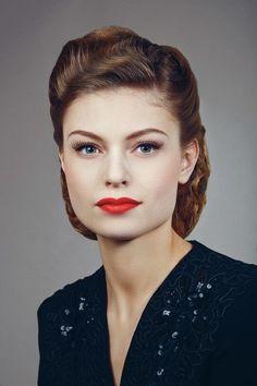 New vintage makeup look tutorials retro hair Ideas Vintage Makeup Looks, Retro Makeup, Vintage Beauty, 1950s Makeup, Classic Makeup Looks, Edgy Makeup, Makeup Geek, Simple Makeup, Beauty Make-up