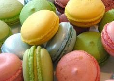 Macaroons!!! I love eating them, they are so pretty, cute and attractive. Also of course they are yummy.