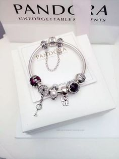 50% OFF!!! $199 Pandora Charm Bracelet Red White Black. Hot Sale!!! SKU: CB02090 - PANDORA Bracelet Ideas