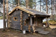 Architektur log cabin kinds, the best facets of log cabin kits and also celebrities awesome cabin in Log Cabin Living, Small Log Cabin, Log Cabin Kits, Tiny Cabins, Tiny House Cabin, Little Cabin, Log Cabin Homes, Cabins And Cottages, Cozy Cabin