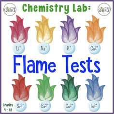 "The ""Flammentest"" laboratory is a classic experiment that appeals to all chemistry student Physical Science, Science Education, Science Activities, Chemistry Experiments, Chemistry Labs, Conservation Of Mass, Flame Test, Online Lessons, Online Tutoring"