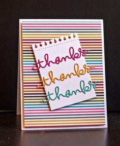Cute cricut thank you card