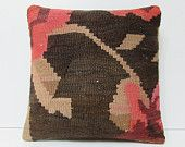 coral pillow brown pillow case black pillow cover outdoor pillow cover decorative pillow bed sofa pillow cover brown kilim pillow sham 18089