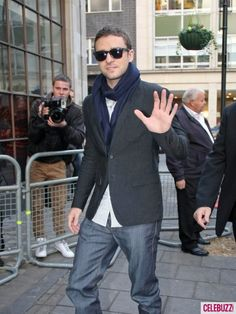 2fddbbb5a63 Justin Timberlake Greets Fans in London Celebuzz! Jacket JeansJessica ...
