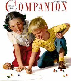 """Cover of Women's Home Companion June 1949"" ~ Harry Anderson (1906 – 1996, American)"