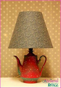 Teapot lamp #teapotlamp #lamp #handmadelamp #vintagereloaded